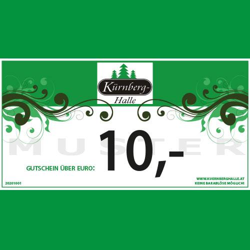 10 Euro Gutschein Kürnberghalle